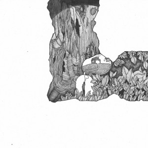 Jack Landridge Gould, 'Evading Conclusions Underground' (detail), 2012, ink on paper.