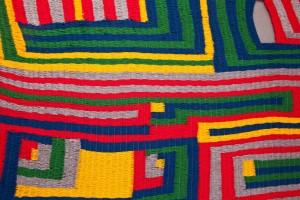 Meg Wilson, 'Flounce' (detail), 2013, yarn, string, wood, 251 x 130cm. Photo: Rosie Hastie. Courtesy the artist.